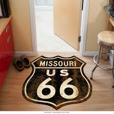 route 66 missouri rusty shield floor decal floor stickers
