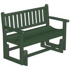 polywood plastic traditional garden bench glider with arms 48