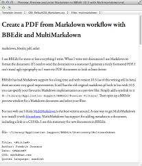 create a pdf from markdown workflow with bbedit and multimarkdown
