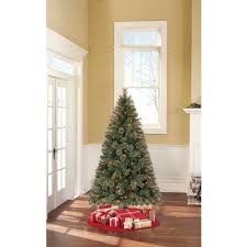 time pre lit 6 5 woodland spruce artificial