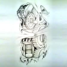tattoo designs cool amazing biomechanical tattoo sketch tattoos