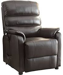 Leather Match Upholstery Amazon Com Coaster 600416 Power Lift Recliner With Black Leather