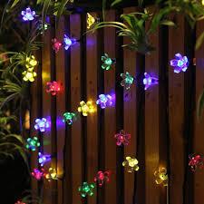 Garden Lights 50 Leds Decorations Solar String Lights Flower