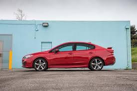 red subaru sedan 2017 subaru impreza sedan and hatchback first test unrivaled
