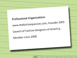 Resume For Fashion Designer Job by How To Write A Resume For A Job In The Fashion Industry 12 Steps