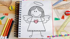 how to draw an angel easy step by step drawing lessons for kids