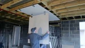 How To Sheetrock A Ceiling by How To Fit Plasterboard To An Existing Ceiling Double Boarding A