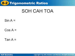 8 2 trigonometric ratios holt geometry ppt video online download