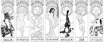 seven deadly sins dc comics seven deadly sins tarot cards original art set in