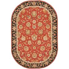 6 X 9 Oval Area Rugs Safavieh Chelsea Black 7 Ft 6 In X 9 Ft 6 In Oval Area
