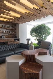 the decorative ceiling design in this living room will get your