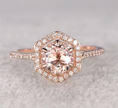 Rose Gold Wedding Rings by Morganite Engagement Ring Rose Gold 2017 Wedding Ideas Magazine