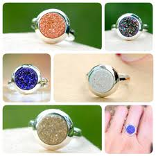 Geode Ring Box Druzy Ring Crystal Ring Geode Ring Cocktail Ring Stone Ring Quartz