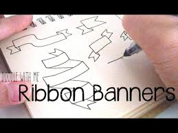 doodle with how to draw ribbon banners for your bullet journal doodle with