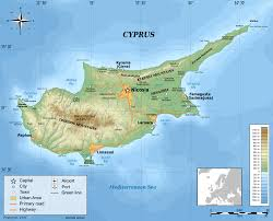 map of cyprus large physical map of cyprus