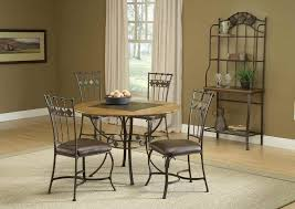 dinning round stone top dining table tall kitchen table dark wood