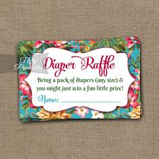 raffle baby shower printable raffle baby shower tropical flowers