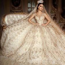 gold wedding dresses aliexpress buy saudi arabia scoop wedding dress cap sleeve