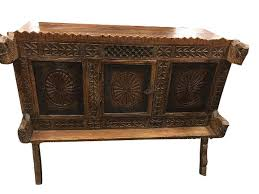 amazon com antique indian sideboard chakra chest carved vintage