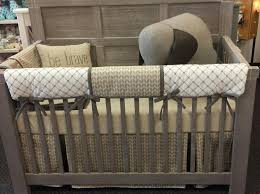 tan arrow crib bedding set called nottingham by pine creek bedding