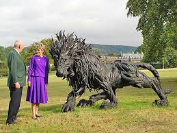 metal lion statue in pictures part two of monumental sculpture show beyond limits