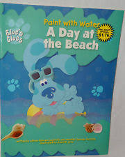 blues clues paint water coloring book beach ebay