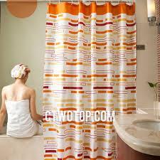 Orange Shower Curtains Contemporary Designer Cool Cheap Orange Striped Shower Curtains