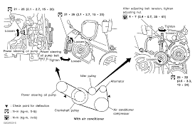 nissan acura 2003 2003 nissan altima serpentine belt routing and timing belt diagrams