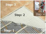 installing radiant floor heating tile and