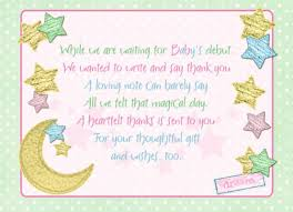 card templates baby gift thank you cards beguiling baby thank