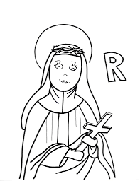 coloring pages and st rose of lima page with omeletta me