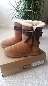 s ugg australia josette boots ugg australia josette leather bow band boot uk 5 5 1482296254005