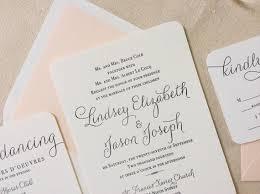 Calligraphy Wedding Invitations The Verbena Suite Modern Letterpress Wedding Invitation Suite