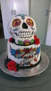 sugar skull cake topper sugar skull tattoo cake i think this has been my favourite cake to