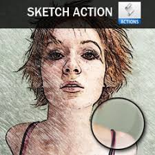 free photoshop sketch action psddude