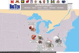 Pennsylvania On Map by Ncaa Division I Fbs Big Ten Conference 2010 Season U2013 Attendance