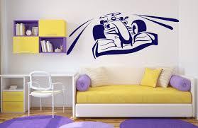 wall decals stickers home decor home furniture diy wall sticker vinyl decal racer rally speed brakes shriek wheels trail n163