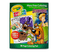 scooby doo color wonder scooby doo 18 page coloring book crayola