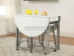 Drop Leaf Table Sets Drop Leaf Space Saver 3pc Pub Table Set
