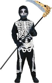 boys skeleton costume child haunted house halloween fancy dress