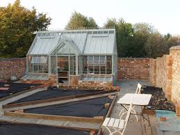 construction just complete a productive walled kitchen garden