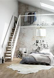 Loft Bedroom Ideas by Inspirations Pour Des Murs De Briques Loft Design Lofts And