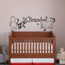 bear wall decal etsy classic winnie the pooh baby name wall decal bear tigger eeyore piglet