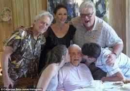 catherine zeta jones and michael douglas enjoy filled family