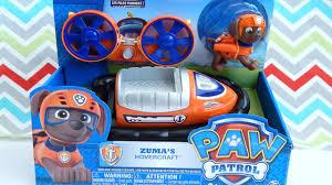 paw patrol zuma hovercraft toy unboxing pinkie pie