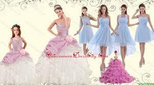 elegant multi color strapless hand made flower quinceanera dress