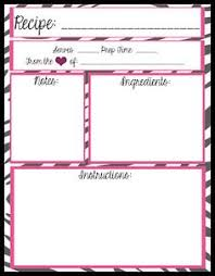 printable recipes free full page editable recipe template several other organizing