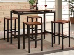 Piece Wood And Metal Counter Height Dining Set By Coaster - Counter height kitchen table