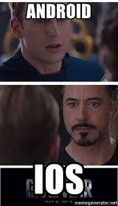 Ios Meme Generator - android ios cap and tony civil war meme generator