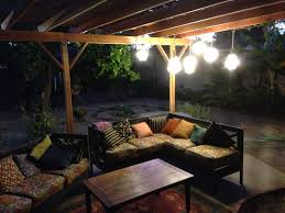 Patio Hanging Lights by Tough Kitty Puffs August 2014